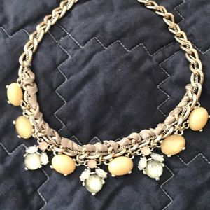 "AT Loft 16"" braided chain jeweled necklace"
